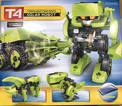 T4 Transforming Robot Solar Powered 4 In 1 Build (Perfect For A Christmas Gift) • 8£