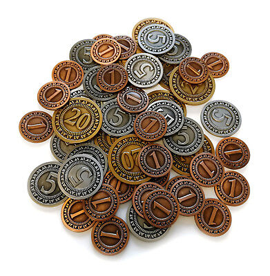 Generic Metal Coins For Board Games - 50 Pcs • 13.95£