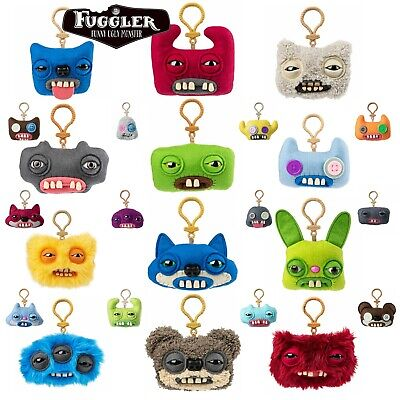 Fuggler Clip On 5  Keychain Funny Ugly Monster With Teeth - 24 Available *NEW • 5.99£
