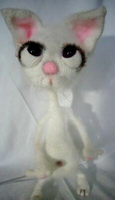 Amigurumi, Crochet Cat, Handmade Toy, Kitten, Cat, Love, White • 79£