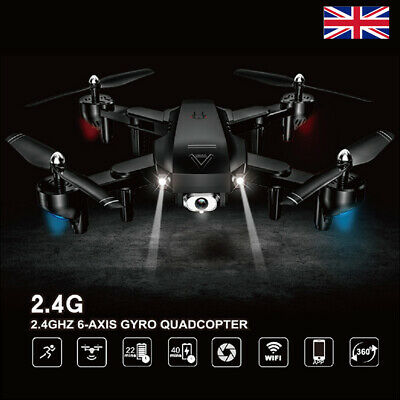 RC Drones A807 2.4G With 1080P HD Camera GPS WIFI FPV Foldable Quadcopter • 52.38£