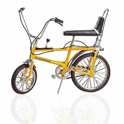 TW41600 Toyway Raleigh Chopper Mk1 Yellow Bicycle Diecast Metal Model 1:12 Scale • 17.99£