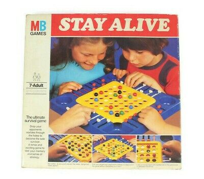 STAY ALIVE Vintage Board Game By MB Games 1975 - Complete • 14.99£