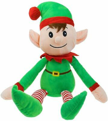 New Made By Elves Approved By Elf Christmas Xmas 31cm Elf Soft Plush Toy • 7.99£