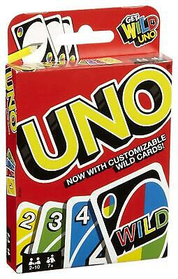UNO CARD GAME With WILD CARDS Matte Latest Version Family Fun Indoor Party UK • 2.85£