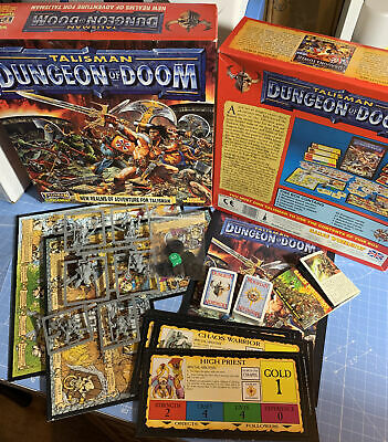 Talisman 3rd Edition - Dungeon Of Doom Boxed Complete - Games Workshop 1994 • 139.99£