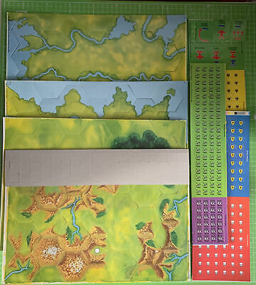 Warhammer Mighty Empires Card Parts Unused Maps Counters - 1990 - Games Workshop • 59.99£