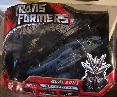 Transformers Blackout Decepticon Voyager Class Robot Helicopter Figures Action • 15.99£