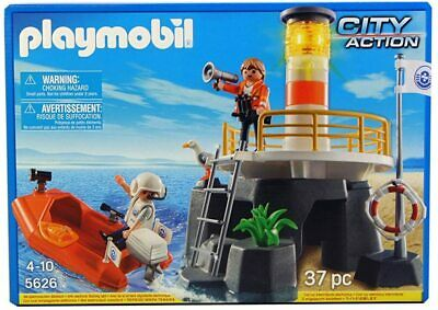 NEW BOXED Playmobil City Action Lighthouse & Boat Rescue Set 37 Pieces 4 Years + • 14.99£