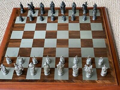 Beautifully-made Royal Selangor Camelot Chess Set With Board And Box • 28£