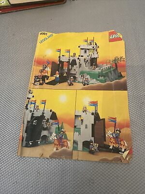 Vintage Lego Castle 6081 King's Mountain Fortress - Instruction Manual Only • 4.99£
