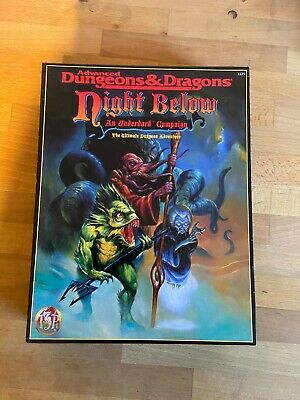 Advanced Dungeons And Dragons Night Below An Underdark Campaign Complete • 49£