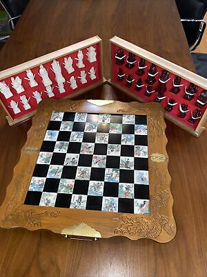 Chess Board. Vintage Chinese Set. Ornamental Chinese Folding Board. • 45.01£