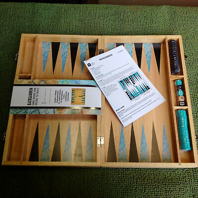 Traditional Classic Backgammon Wooden Box Set • 10£