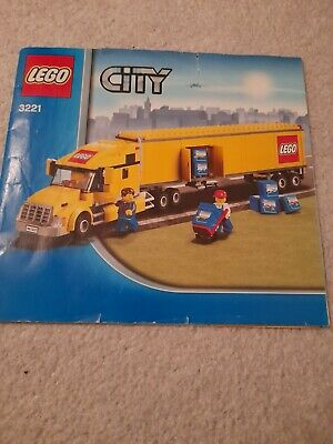 LEGO 3221 City INSTRUCTIONS ONLY - Big Yellow Airport Truck - Lorry Manual • 2£