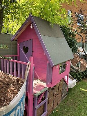 Childrens Wooden Outdoor Tree House Play House Pink And Purple • 200£