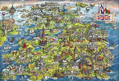 Gibsons - 500 PIECE JIGSAW PUZZLE - Beautiful Britain • 11.99£