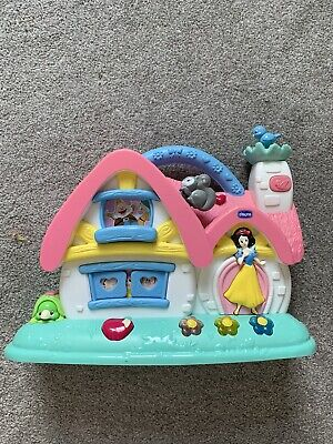 Chicco Snow White Disney Princess Musical Cottage Activity Baby Lights Sounds • 10£
