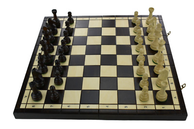 Large Wooden Tournament Chess Set 42 X 42 Hand Crafted Woodeeworld • 42.99£