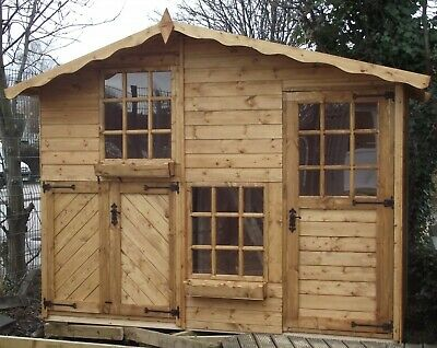 2 Storey Wooden Playhouse/wendy House/play House/ 10ft X 5ft Mickey & Minnie • 1,195£