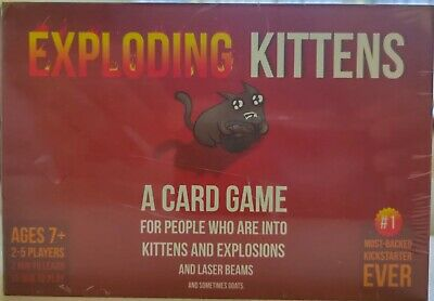 Exploding Kittens Original Family Friendly Party Card Game - Brand New UK Stock • 8.99£