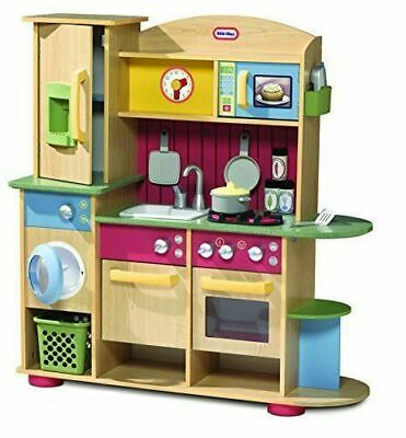 Little Tikes Cooking Creations Wood Kitchen & Accessories • 44£