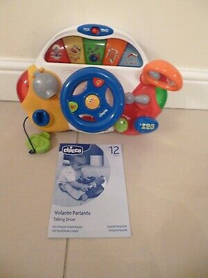 Chicco Talking Driver - Bilingual Toy - Teaches Your Child In English And French • 13.99£