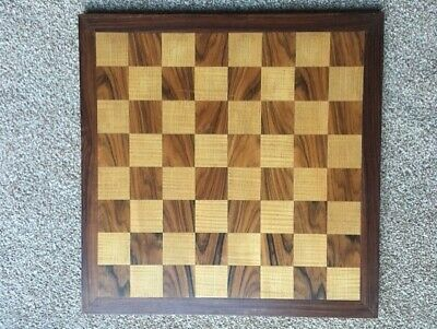Vintage Wooden Chess Board 45.5.X 45.5. Inlaid Squares 5CM • 16£