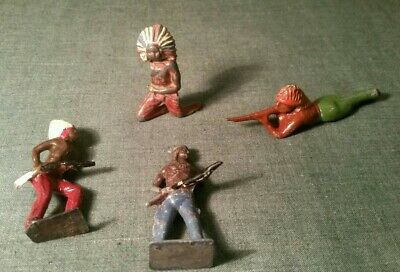 Johilco, Crescent, Britains Ect Vintage Lead Group Of Indians In Various Poses  • 1.99£
