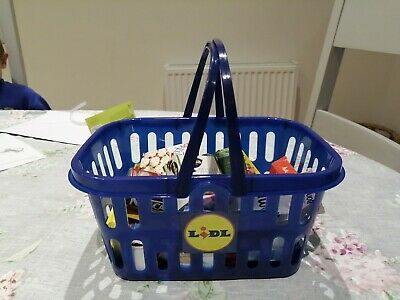 Toy Lidl Grocery Basket Shopping • 1.10£