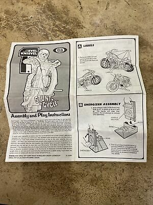 Vintage Evil Knievel Assembly And Play Instructions • 5£