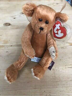 Ty Beanies Bear - Attic Treasures Carson With Tag - Mint - Retired • 4.10£