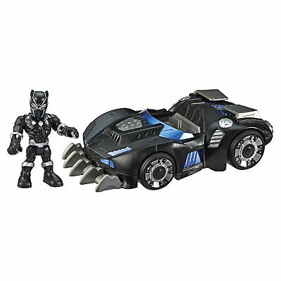 Marvel Super Hero Adventures Toys, Black Panther 12cm Figure And Vehicle Set • 21.99£