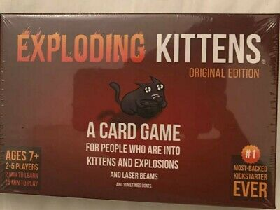 Exploding Kittens Card Game Brand New Best Copy Original Edition 2-5 Players • 11.90£