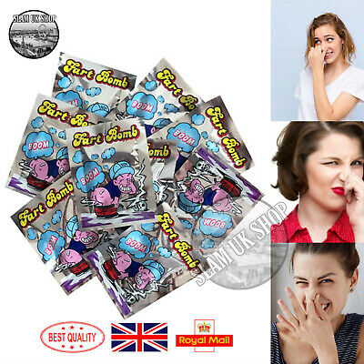 Stink Fart Bomb Bag Funny Jokes Tricks Smelly Rotten Egg April Fools Party Prank • 5.99£