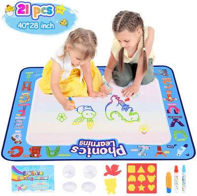 NEW Dmazing Water Doodle Mat For Toddlers, No Mess Reusable Drawing Painting Set • 31.19£