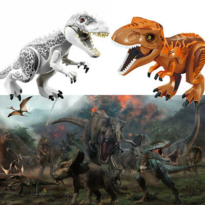 2Pcs Large Indominus T Rex Blocks Dinosaur Figure Big Size Fit Lego Toys Gifts • 12.59£
