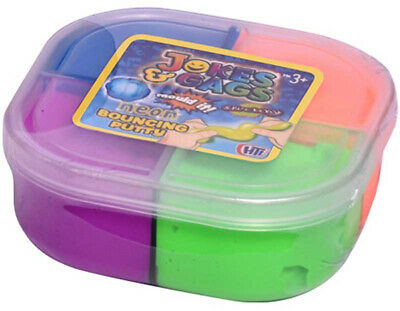 Neon Bouncing Putty Stretchy Colour Play Fun Kids Toy Tubs Assorted Colours • 3.99£