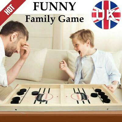 Wooden Hockey Game Table Game Family Fun Game Parent-child Interactive Toy Top✅ • 8.29£