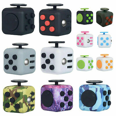 Fidget Cube Spinner Toy Children Desk Adults Stress Pressure Relief Cubes UK • 3.26£
