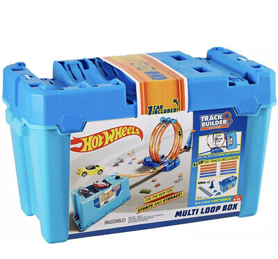 Hot Wheels FLK90 Builder Multi Loop Box Playset And Connectable Track Play Set • 28£