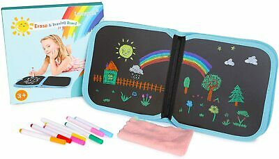 Lamapee Erasable Drawing Board, Toys For 2 3 4 5 6 7 8 Year Old Girls Blue  • 11.14£