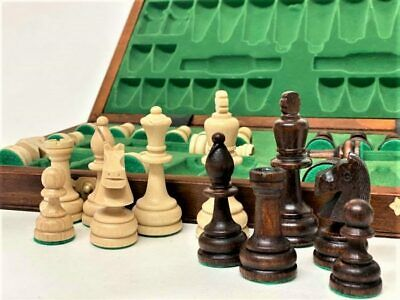 Wooden Chess Set  41 X 41 Hand Crafted  Woodeeworld • 59.99£