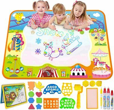 MerryXGift Water Doodle Mat, Large(39.4 X 27.5in) Rainbow Drawing Mat 6...  • 23.99£