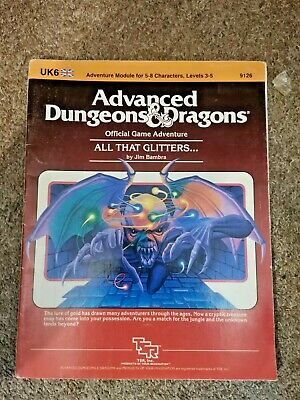 D9126 All That Glitters Advanced Dungeons And Dragons UK6 Adventure Module RARE • 7.10£