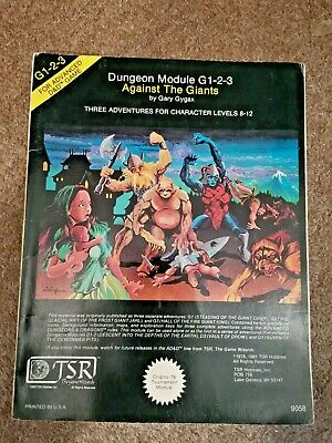 G1-2-3 Against The Giants Advanced Dungeons & Dragons Adventure Module D&D 9058 • 8.15£