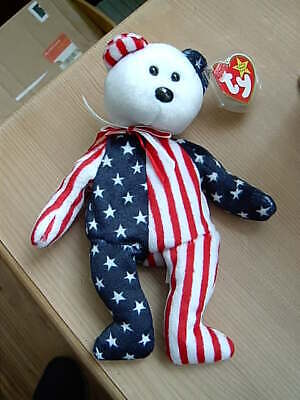 1999 Retired TY Beanie Babies Collection Bear SPANGLE 14th June 1999 • 6.50£