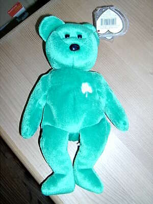 Retired TY Beanie Babies Collection Bear Erin 17th March 1997 • 6.50£