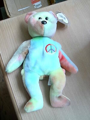 Retired TY Beanie Babies Collection Bear PEACE February 1, 1996 • 6.50£