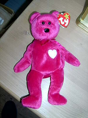 1999 Retired TY Beanie Babies Collection Bear VALENTINA February 14th 1998 • 6.50£
